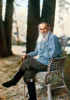 Leo Tolstoy as photographed by X. Prokudin-Gorsky, 190X