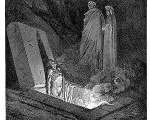 Gustave Doré, illustration for Canto X of Dante Alighieri's Inferno.  Source: The Princeton Dante Project:  http://etcweb.princeton.edu