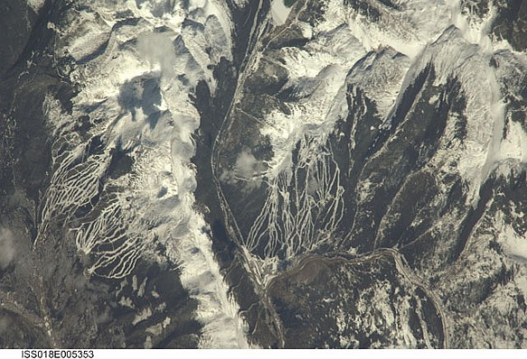 Viewed from space:  Breckenridge and surrounding area, Summit County, Colorado.  Source:  NASA's Marshall Space Flight Center.