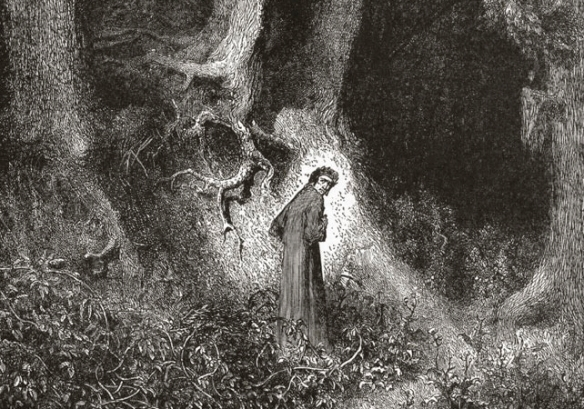 Gustav Doré, Dante in the Dark Wood (1866)