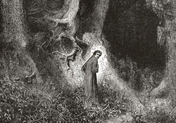 Gustav Doré, Dante in the Dark Wood (1866)