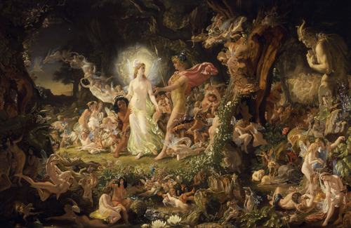 "Sir Joseph Noel Patton: ""The Quarrel of Oberon and Titania"" (1849) - National Gallery of Scotland"
